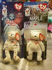 Ty beanie babies Maple and Glory Beanie Bear Very RARE DATE DISCREPENCY!!!!!!