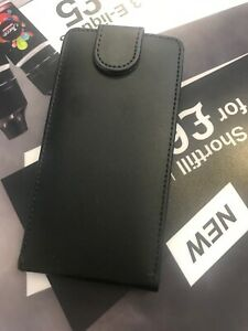 Samsung Galaxy Alpha G850f FLIP WALLET Cover Case - Black - Leather Card Slot