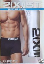 Men's 2 xist Electric Micro Boxer Brief Neon White  MEDIUM 31-33    2(x)ist  NIB