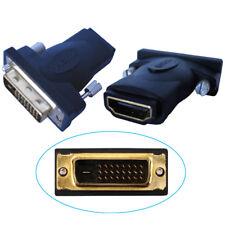 K24 HDMI Buchse auf DVI Stecker Adapter vergoldet FULL HD 1080P TV 24+1 19pol
