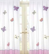 Butterfly Pink and Purple Window Panels - Set of 2