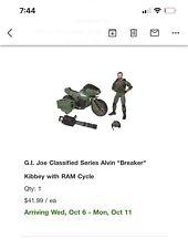 G.I. Joe Classified Series Alvin Breaker Kibbey with RAM Cycle - Pre-Order?Oct.