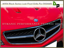 Chrome w/ Black Front Grille For Mercedes-BENZ W204 C63AMG Sedan 2008-2011 Only