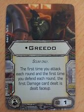 Star Wars X Wing Upgrade Card Greedo