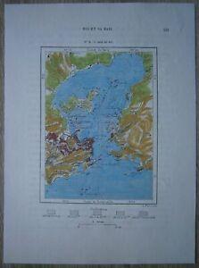 1894 Perron map BAY OF RIO DE JANEIRO (GUANABARA BAY), BRAZIL (#72)