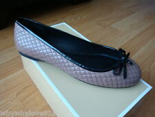 NIB New Women MICHAEL Michael Kors Melody Quilted Ballet Flat Dusty Rose 7
