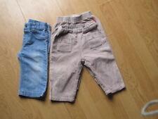 lot 12M de 2 pantalons velours beige Cie des petits et petit bateau+1 jean