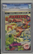 Fantastic Four #166 CGC 9.8 NM/MT Unrestored Marvel Hulk vs Thing WHITE Pages