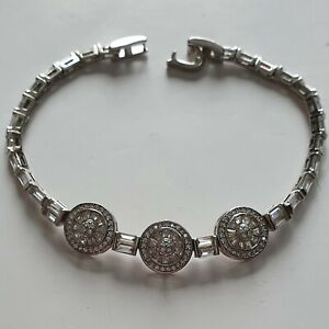 A Gorgeous 925 Sterling Silver and Cubic Zirconia TOVA bracelet stamped 925