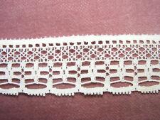 Gehäkelte Baumwolle Spitze Rand Weiß Vintage 7-20mm 1-5m Wedding UK Schmal