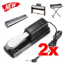 2X Sustain Piano Pedal Foot Damper for Electric Keyboard Yamaha Casio Roland