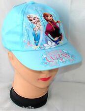 blu Frozen ELSA cappello con visiera Estivo Bambina Baseball tg unica 52-54