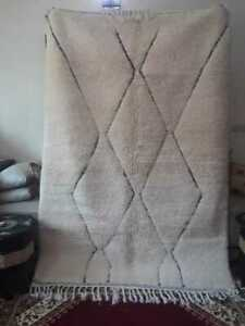 "Exclusive Beni Ourain Rug Morrocan Handmade Berber 5'2"" x 7'8"""