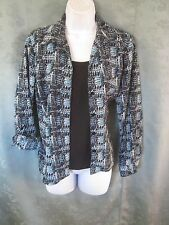 Elementz Size Small Layered Look Career Blouse