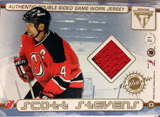 SCOTT STEVENS & J.P.DUMONT 2002 TITANIUM  DOUBLE - SIDED  GAME USED JERSEYS