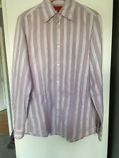 Hugo - Hugo Boss pink & white stripe shirt size small