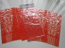 12 ORANGE CELLOPHANE BAGS | 29cm x 13cm Wedding Favours Sweets Gifts Toys Crafts