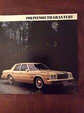 1981 Plymouth Gran Fury Sales Brochure