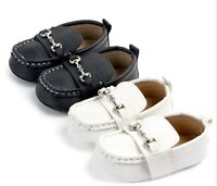 Baby Boy White Or Brown Christening Wedding Party Synthetic leather first Shoes