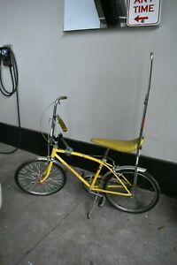 Vintage Yellow Schwinn Stingray Bicycle Made in the USA