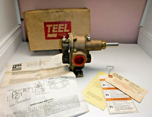 "Dayton Teel Rotary Gear Pump 1"" NPT Bronze 5/8"" Shaft  1P770 w Instructions"