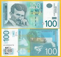Serbia 100 Dinara p-57b 2013 UNC Banknote
