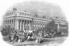 LONDON. Offices of the Board of Trade, Whitehall, antique print, 1845