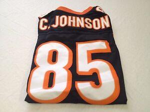 YOUTH CHAD JOHNSON #85 RETRO BLACK CINCINNATTI BENGALS SEWN REEBOK Jersey
