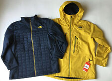 NEW NORTH FACE MENS THERMOBALL SNOW TRICLIMATE 3IN1 SKI JACKET YELLOW XL XLARGE