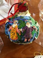 Christopher Radko Large Santas Around The World 3D Resin Christmas Ornament