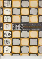 Vintage RMS TV Antenna / Catalog - 36 pages -  switches , technical data, wire,