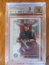 2010 BOWMAN CHROME PROSPECT JOSH DONALDSON ON CARD AUTOGRAPH GRADED 9 MINT