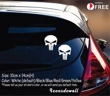 Punisher Skull Car Sticker Van Truck Window Laptop Stickers Decals Best Gifts-