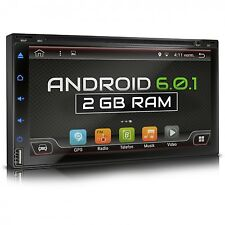 AUTORADIO MIT ANDROID 6.0.1 4CORE 2GB DVD CD NAVI GPS BLUETOOTH DAB+ WIFI USB SD
