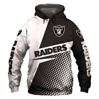 Oakland Raiders Hoodie Hooded Pullover S-5XL Football Team Fans NEW Designs