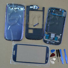 Full Housing Case + Glass Lens + Tools For Samsung Galaxy S3 Sprint L710 Blue