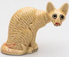 Porcelain Figurine of Cornish Rex Cat Kitty Kitten