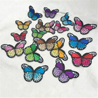 10 x Embroidery Butterfly Sew Iron On Patch Badge Embroidered Applique CL