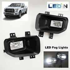 LED Fog Light Kit For 15-17 Ford F150 Wire Harness Switch Bezel Left & Right Set