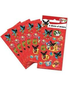 Bing Bunny Party Stickers (6 Sheets) - Loot Bag Fillers