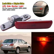 2x For LEXUS RX300 1999-2003 CAR Rear Bumper Reflector Side Marker Light Cover