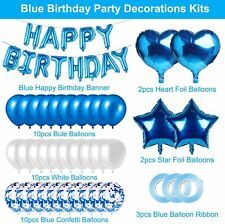Rorchio Boy Birthday Decorations, Blue Birthday Balloons and Foil Balloons with