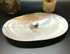Decorative Shell Dish, Mother of Pearl Dish Seashell Dish , Catchall Shell Dish