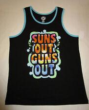 Nwt Mens Hydro Suns Out Guns Out Black Tank Top Shirt Tshirt Large