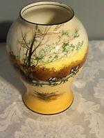 "Fox Hunt Hunting Royal Doulton Porcelain Vase 7.5"" Tall"