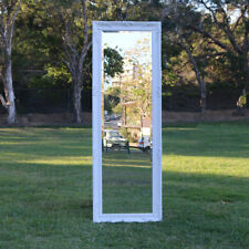 Wooden Europe Palace Style Mirror with White Frame 150CM X 53CM