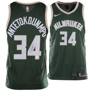 GIANNIS ANTETOKOUNMPO Bucks Autographed Green Nike Swingman Jersey FANATICS