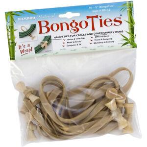 BongoTies All Natural Reusable Cable Tie Wraps - 10-Pack - Natural