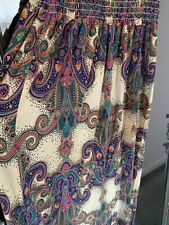 Boho Shirred Bandeau Strappy Maxi Dress Summer Paisley Print