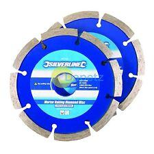 Mortar Raking Diamond Blade 2pk Discs Removing Grinding Tool Brick